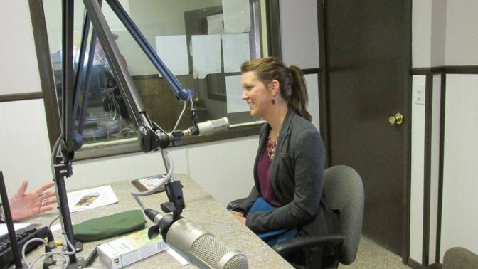 Intern Sherry's first radio interview